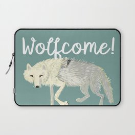 Totem Artic Wolf Turquoise Laptop Sleeve