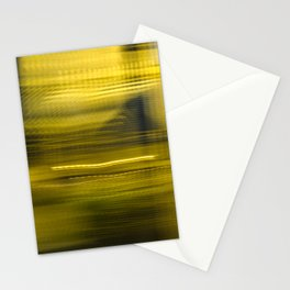 Yellow Lights Speed Effect Stationery Cards