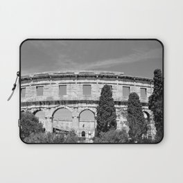 arena amphitheatre pula croatia ancient black white Laptop Sleeve