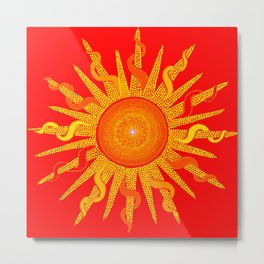 Let The Sunshine In - Dots Painting Metal Print