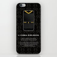 scandal iPhone & iPod Skins featuring A Scandal in Belgravia by MacGuffin Designs