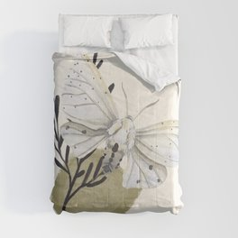 Watercolor Moth No. 6 Comforters