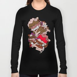 Chocolate Valentine Red Human Slugs Long Sleeve T-shirt