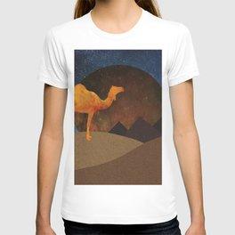 Camel, Desert and Pyramid T-shirt