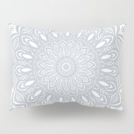 Cool Gray Mandala Simplistic Bold Minimal Minimalistic Pillow Sham