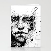 agnes cecile Stationery Cards featuring lines hold the memories by agnes-cecile