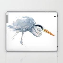 Great Blue Heron Watercolor Study Laptop & iPad Skin