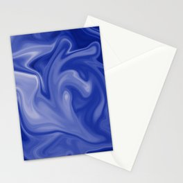 Marble Blues White Stationery Cards
