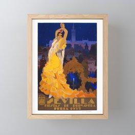 Spain 1933 Seville April Fair Travel Poster Framed Mini Art Print