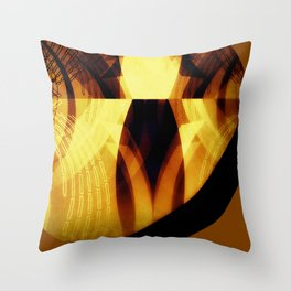 The moon is almost full tonight #II Throw Pillow
