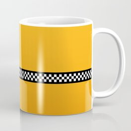 NY Taxi Cab Yellow with Black and White Check Band Coffee Mug