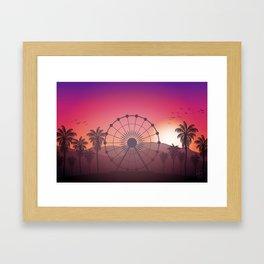 Festival Inspired Sunset Framed Art Print