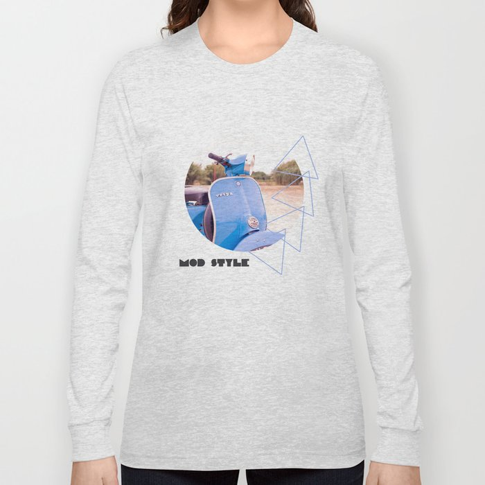 Mod Style in Blue Long Sleeve T-shirt