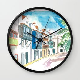 Santa Cruz de La Palma Street Balcony Wall Clock