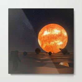 Solar System Art Metal Print