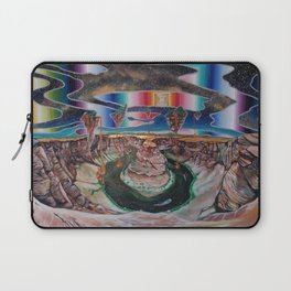 Come, walk with me. Let faith be all you need. Laptop Sleeve
