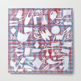 Abstract Symbols 01 Metal Print