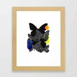 butterfly frenzy Framed Art Print