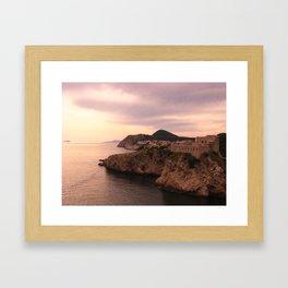 Dubrovnik at Sunset Framed Art Print