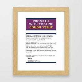 Promethazine Label Framed Art Print
