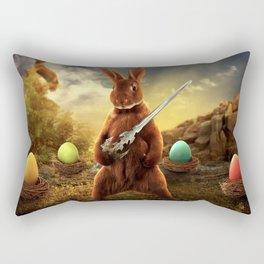 rabbit fighter Rectangular Pillow
