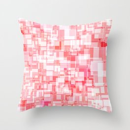 Pink Square Patterns Design Throw Pillow