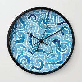 Blue Painting Wall Clock