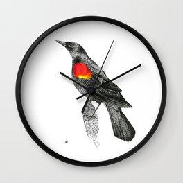 Fire Wing  Wall Clock