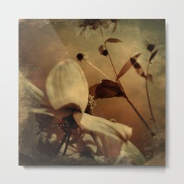 Flora sepia Metal Print