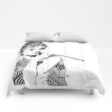 Audrey Hepburn - black and white Comforters