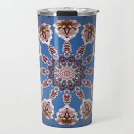 Spring blossoms, Floral mandala-style Travel Mug