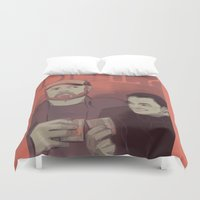 crowley Duvet Covers featuring Deal? by Justyna Rerak