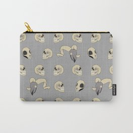 Human Animal Skull Pattern Carry-All Pouch