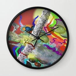 Confetti Abstract Wall Clock
