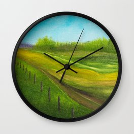 Fence Line Wall Clock