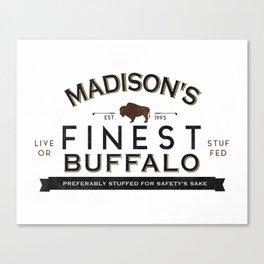 live or stuffed Canvas Print