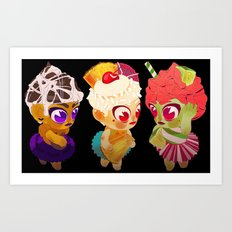 Cupcake Girls Art Print