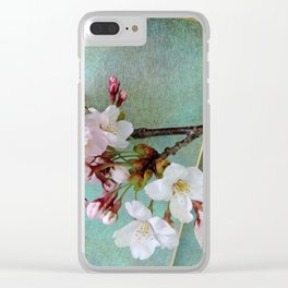 """Cherry blossoms on """"Wa-shi"""" Clear iPhone Case"""
