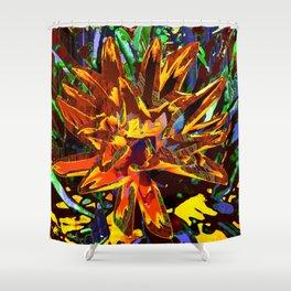 floral technique Shower Curtain