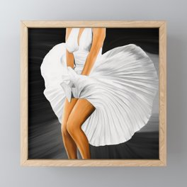 The Legend No2, blonde Framed Mini Art Print