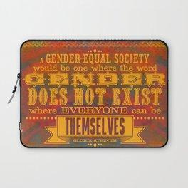 Gloria Steinem   Gender Equality - Leaves & Pumpkins Laptop Sleeve