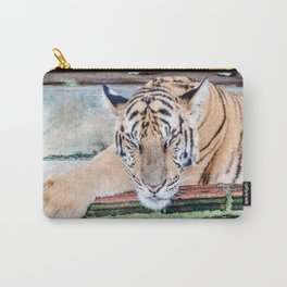 Tiger Sleeping Carry-All Pouch