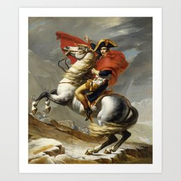 Napoleon Crossing the Alps by Jacques Louis David Art Print