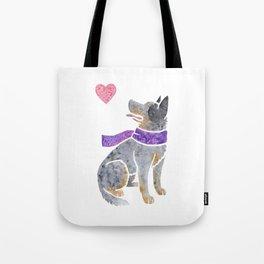 Watercolour Australian Cattle Dog Tote Bag