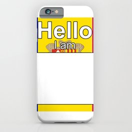 Hello I am from Andorra iPhone Case