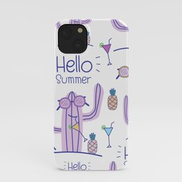 Hello Summer Cactus! iPhone Case