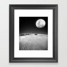 Moon Desert Framed Art Print