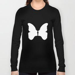Butterfly Kiss (white) Long Sleeve T-shirt