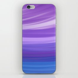 blue and violate wavy abstract iPhone Skin