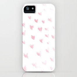 hearts drawing iPhone Case